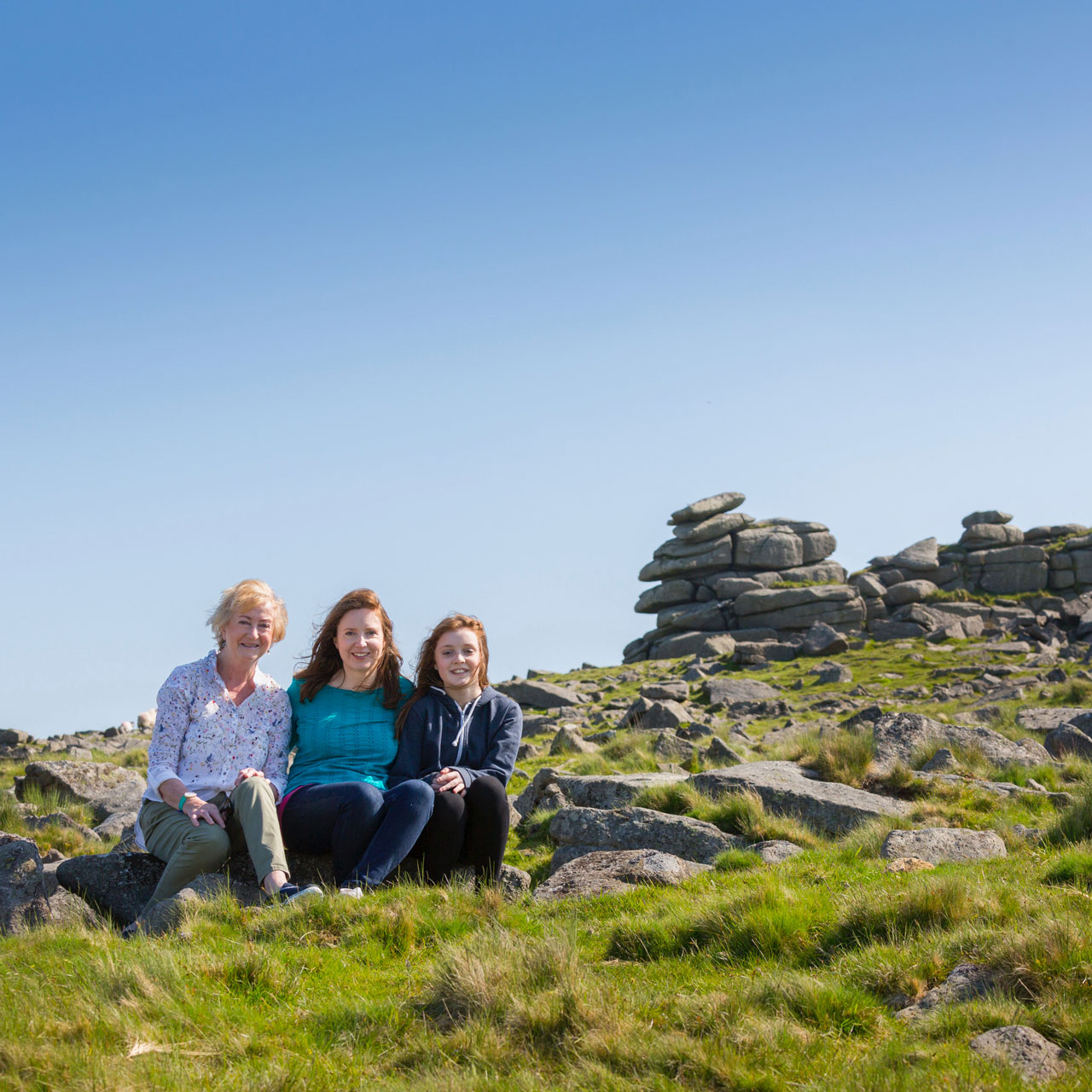 3 generations of one Dartmoor family